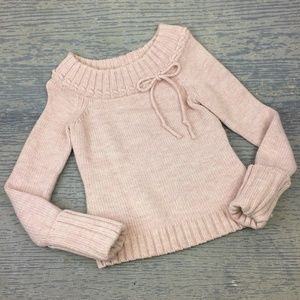 Loft pink boat neck sweater